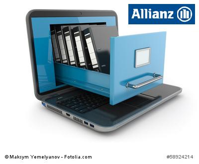 Allianz Logo mit Ordnern