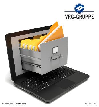 Logo VRG mit digitalen Aktenordner