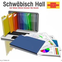 Logo Schwäbisch Hall mit Fotolia Bild