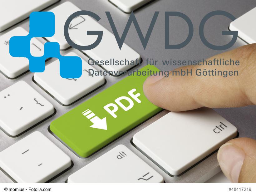 PDF Button mit GWDG Logo