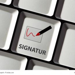Digitale Signatur per Knopfdruck