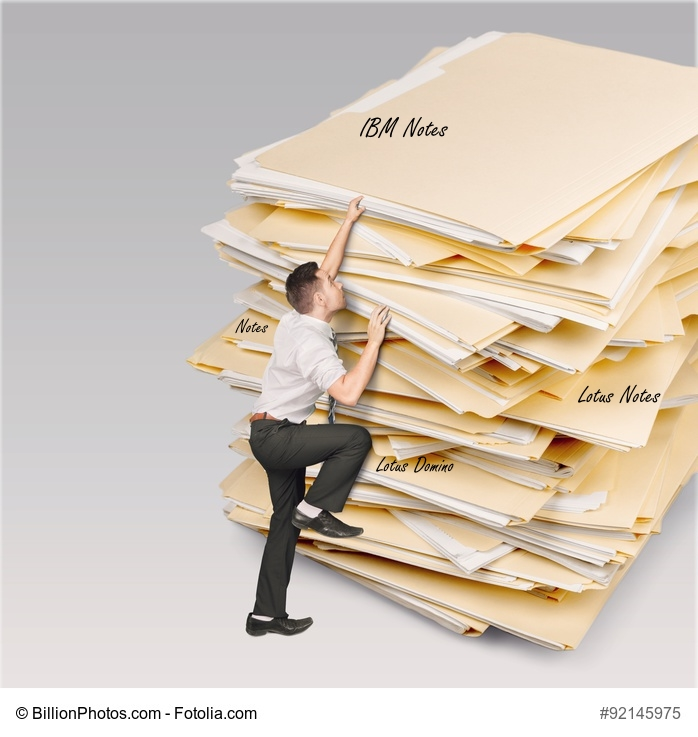 Die vielen Namen von Notes Übersicht auf Papierberg