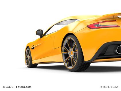 Gelbes Sportauto