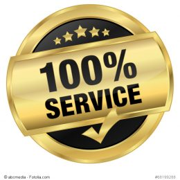 Goldener Service Button